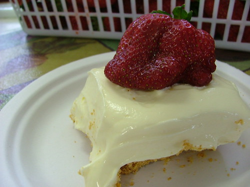 Almost Sugar-Free, Almost Fat-Free Cheesecake