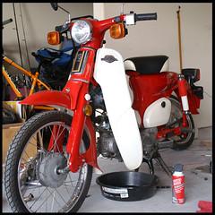 C70 Red (barron) Tags: honda scooter motorbike supercub c70 motofujinet