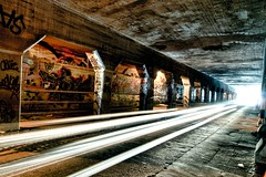 atlanta graffiti tunnel (krog) (briantmurphy) Tags: street atlanta light urban underground graffiti nikon stream tunnel krog d300 btm tonemapped