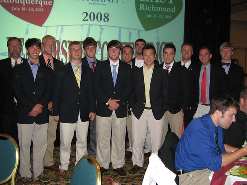Delta Delta Brothers at East Leadership Conference 2008