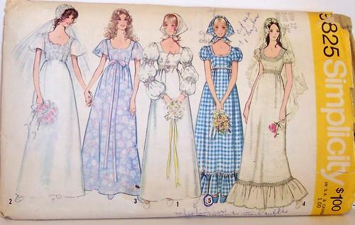 vintage wedding dress patterns. VIntage Simplicity Pattern