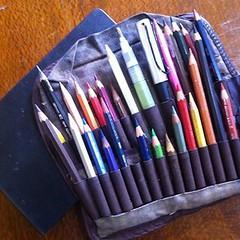 my sketch kit (alissa duke) Tags: sketchkit pencilwrap watercolourpencils