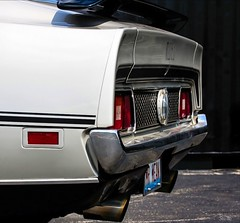 rear view , no mirror... (Stu Bo) Tags: 1sweetride 1ofakind 1971mustangmach1 poweredbyford photography canon certifiedcarcrazy classiccar coolcar car chrome canonwarrior beautiful butt rearend wide vintageautomobile oldschool onewickedride mrmean hump sbimageworks shadows showcar smooth sexonwheels idreamofcarsmotorsandhorsepower ilovemycar mustanglust horsepower happiness fordmustang usa dreamcar fastback 351cleveland bumper outdoor