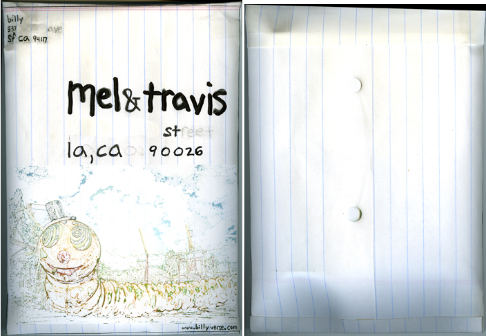 envelope for mel & travis