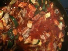 Simmering Chicken with CSA veggies