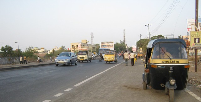 View of Nagar Road at Wagholi, Kharadi annexe, Pune