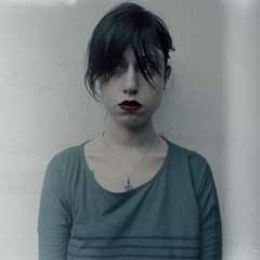 Dumb (Anxiety Explosion) Tags: blue portrait white selfportrait girl fog self redlipstick