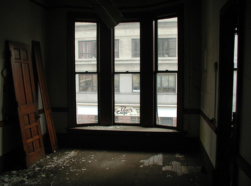 Window overlooking State Street. Photo by H Brandon