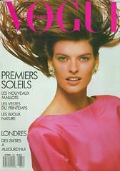 Vogue Paris Avril 1988 (Ze Cali Fairy) Tags: fashion magazine model vogue cover lindaevangelista frenchvogue vogueparis