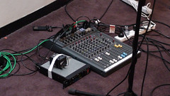 The podcasting setup