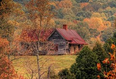 Cherokee Corners (Patrick Henson) Tags: old abandoned rural tennessee fallcolors shack ocoee appalachia hdr tinroof aplusphoto diamondclassphotographer