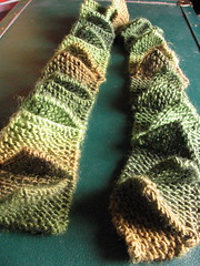 Finished: Leafy Shag scarf