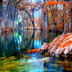 that for which i'm thankful (slight clutter) Tags: longexposure morning trees reflection nature river square landscape happy bravo colorful texas peaceful calm iloveflickr dreamy cypress hillcountry hunt optimistic topf500 slightclutter hunttexas katyahorner slightclutterphotography