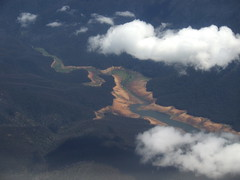 Dam! where's the water gone? (Catcurl) Tags: ariel water shot dam canberra