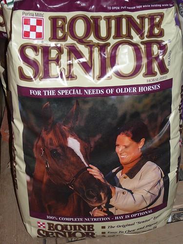 Senior horse food