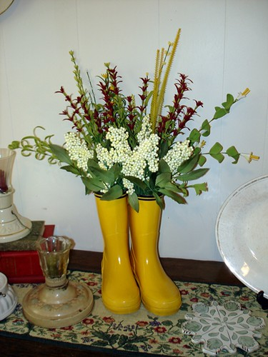 rain boots bouquet sized