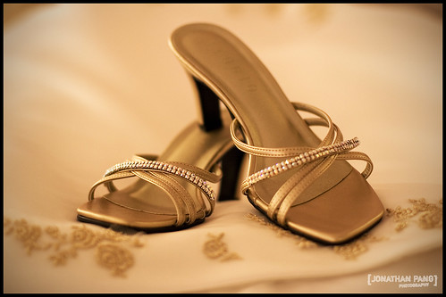 elegant brown bridal shoes