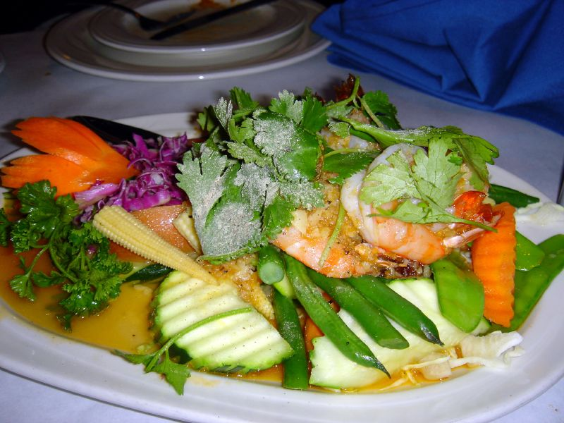 Stir fried shrimp with vegetables