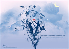 "I Promise you (""Anwaar) Tags: flowers blue light woman moon snow man flower guy art love girl rose night clouds happy lights design couple heaven alone peace sad heart feeling kuwait vector feelings q8 happieness  sadfeeling"