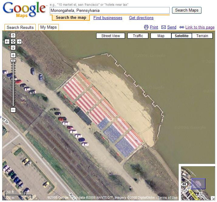 American Flag in Google Maps