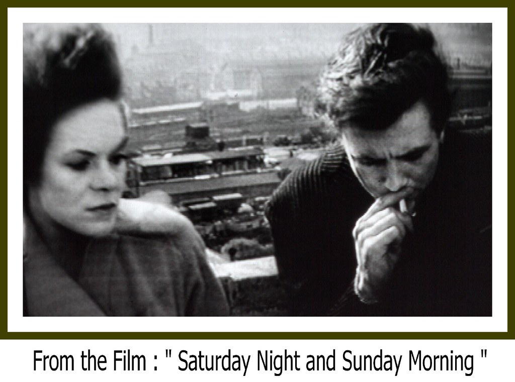 Above the Grey Industry of the  Nottingham Meadows -  Filmed from  Nottingham Castle , A Paused Moment from the 1960 Film
