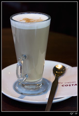 Costa Coffee (rjt208) Tags: uk greatbritain england costa art glass coffee canon eos italian gallery britain small spoon latte walsall 400d aplusphoto rjt theperfectphotographer rjt208