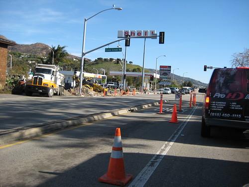 road work at cross creek