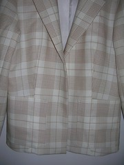 beige plaid jacket