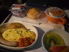 朝食@Air New Zealand