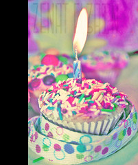 Happy B-day Strawberry Milkshake  (Aih.) Tags: birthday pink party cup cake day candle small birth pinkish colourfull