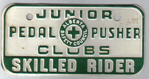 ALBERTA PEDDLE PUSHERS CLUB c.1964