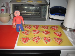 Flat Stanley helped Mommy make Valentine cookies