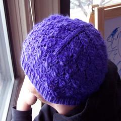 Purple Foliage (MissMessie) Tags: hat knitting purple knit foliage knitty malabrigo