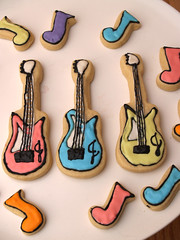 Electric Guitars (nikkicookiebaker) Tags: music guitars decoratedcookies