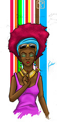 negrita en colores (pachocolors) Tags: mujer afro colores negra morena