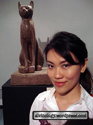 rachel with cat