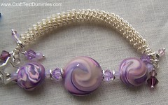 Close up of Lavendar Swirly bracelet