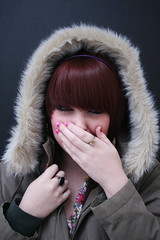 meeeee! (hool a hoop) Tags: girl laugh parka adamgreen photoid