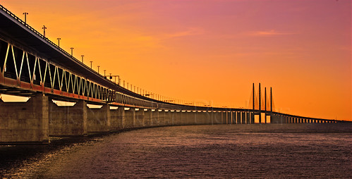 Sunset at Öresunds Bridge