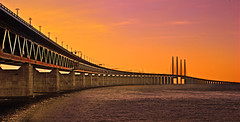 Sunset at resunds Bridge (alex_blacker) Tags: bridge sunset nikon alexander 1855 55 bron blacker d40x resunds
