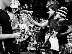 Araw Ng Mga Puso (Meljoe San Diego) Tags: meljoesandiego ricoh ricohgr gr streetphotography street candid people flower monochrome