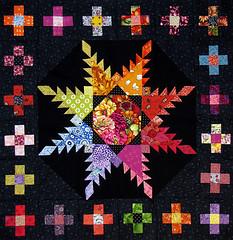 Show me your true colors 2 (Lizinnie) Tags: true colors bernina medaillonquiltalong kreuze plus quilt mystery dorthe niemann
