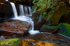 Small Waterfall in Ku-ring-gai Chase NP, Sydeny, Australia (-yury-) Tags: longexposure nature water landscape waterfall nationalpark australia falls cascades nsw kuringgai mccarrscreek