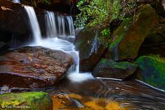Small Waterfall in Ku-ring-gai Chase NP, Sydeny, Australia (-yury-) Tags: longexposure nature water landscape waterfall nationalpark australia falls cascades nsw kuringgai mccarrscreek
