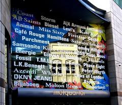 Reflecting on the Metquarter - Liverpool 2009 (ronramstew) Tags: uk england reflection window liverpool shops whitechapel reflexions 2009 businesses companies merseyside metroquarter