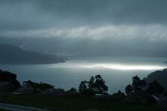 Baha de O Vicedo (Mauricio Snchez Rubal) Tags: sea naturaleza storm nature rain clouds dark bay mar lluvia galicia nubes tormenta oscuridad baha vicedo abigfave theunforgettablepictures
