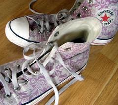 Pink Design on Chucks (hojpoj) Tags: pink shoes pinky breastcancer breastcancerawareness chucks chucktaylors converseallstars hojpoj pinkforthecure susangkomenforthecure strictlypinkconverse