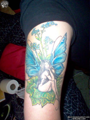 Blue Sexy Fairy Tattoo Gallery