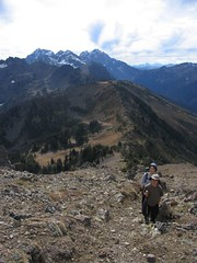 Climbing up above Marmot Pass