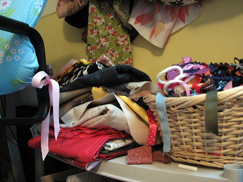 pile in my sewing corner